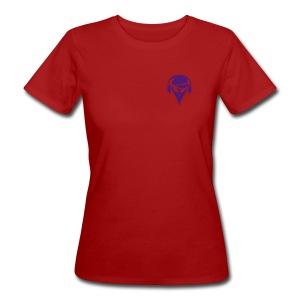 alien-mit-baseballmuetze-und-kopfhoerer-frauen-bio-t-shirt